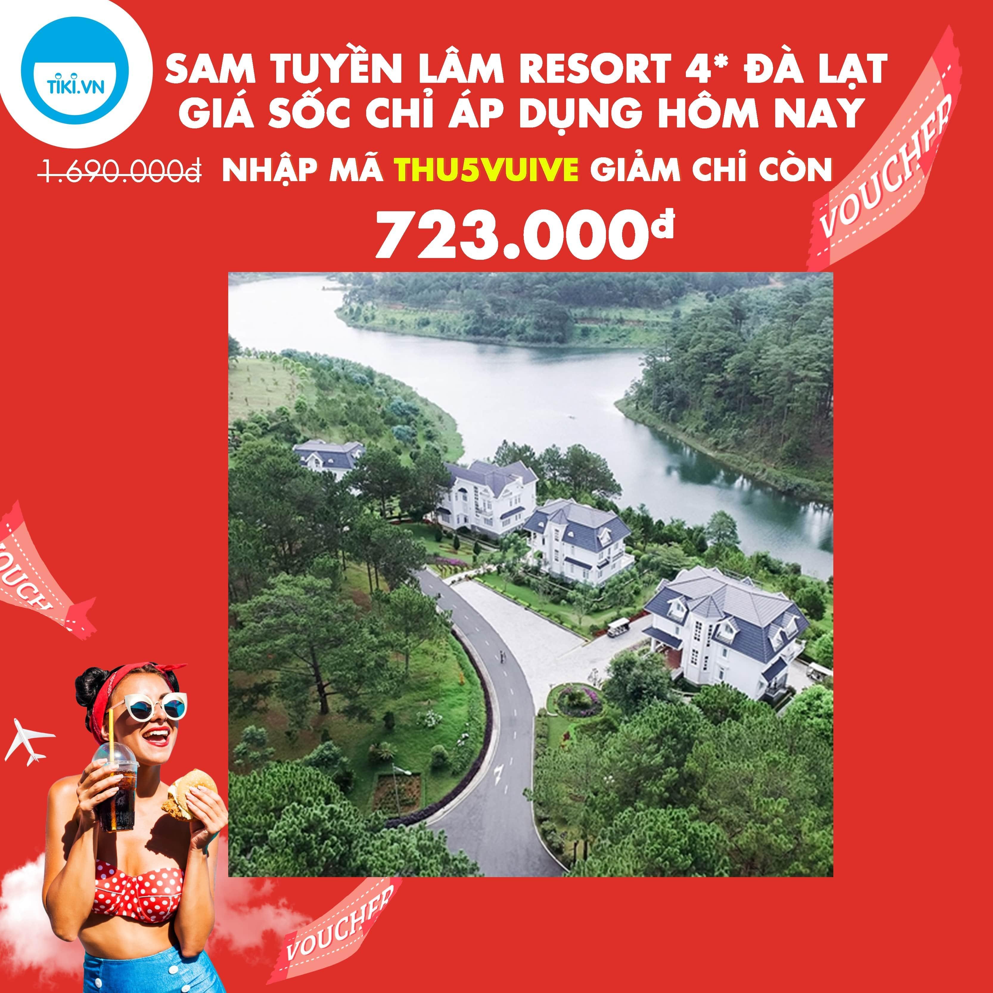 SAM Tuyền Lâm Resort Đà Lạt 4* - Giá Đặc Biệt, Buffet Sáng, Xe Đưa Đón