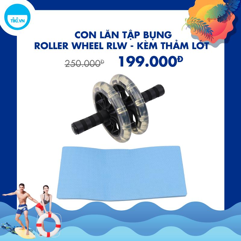 Con Lăn Tập Bụng Roller Wheel RLW - Kèm Thảm Lót