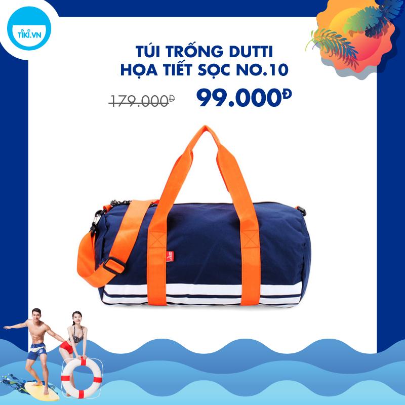 Túi Trống Dutti Họa Tiết Sọc No.10 - Xanh Dương
