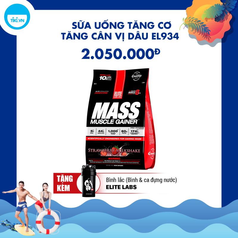 Sữa Uống Tăng Cơ Tăng Cân Vị dâu EL934 Elite Labs Mass Muscle Gainer Strawberry EL934 (4.6kg)