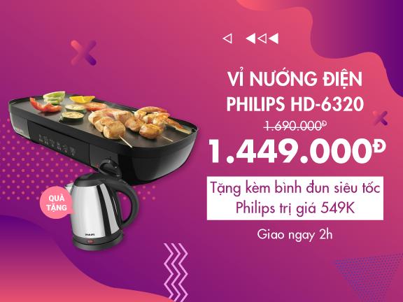 Vỉ Nướng Điện Philips