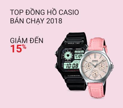 Top đồng hồ Casio bán chạy 2018