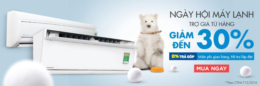 Ngày hội máy lạnh giảm đến 30%