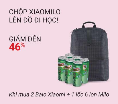 Balo Xiaomi x Sữa Milo - giảm 46% chỉ còn 369k