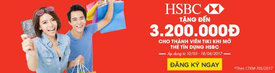 Mở thẻ HSBC tặng đến 3.200.000đ
