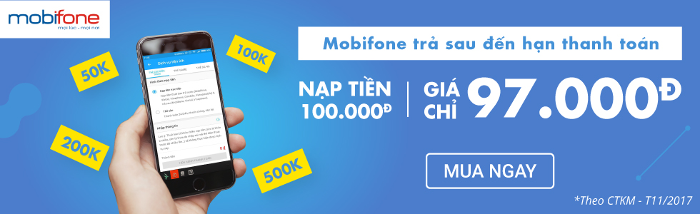 MobiFone trả sau đến hạn thanh toán. Nạp tiền ngay!