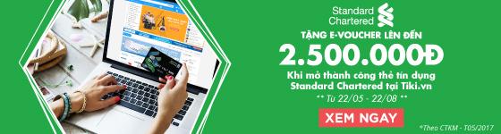 Mở thẻ Standard Chartered tặng đến 2.500.000đ
