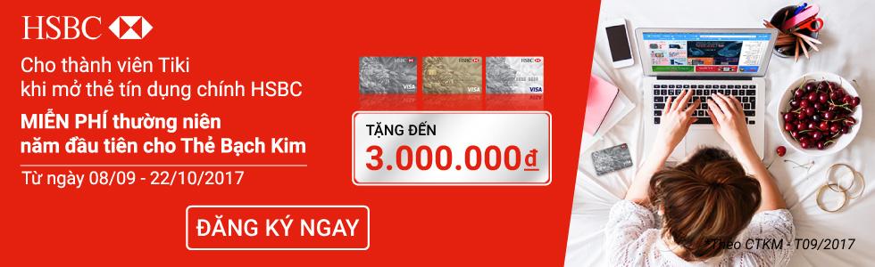 Tặng đến 3.000.000đ khi mở thẻ tín dụng HSBC