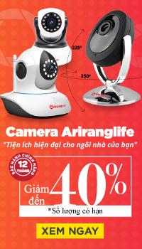 Camera Ariranglife ưu đãi 40%