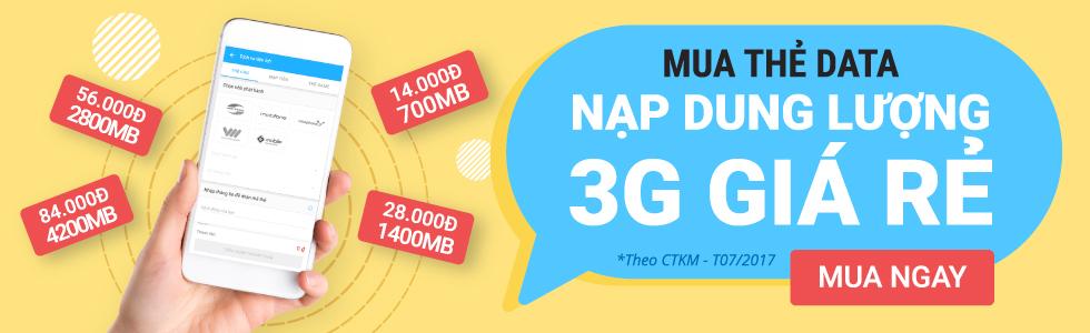 Nạp thẻ data 3G