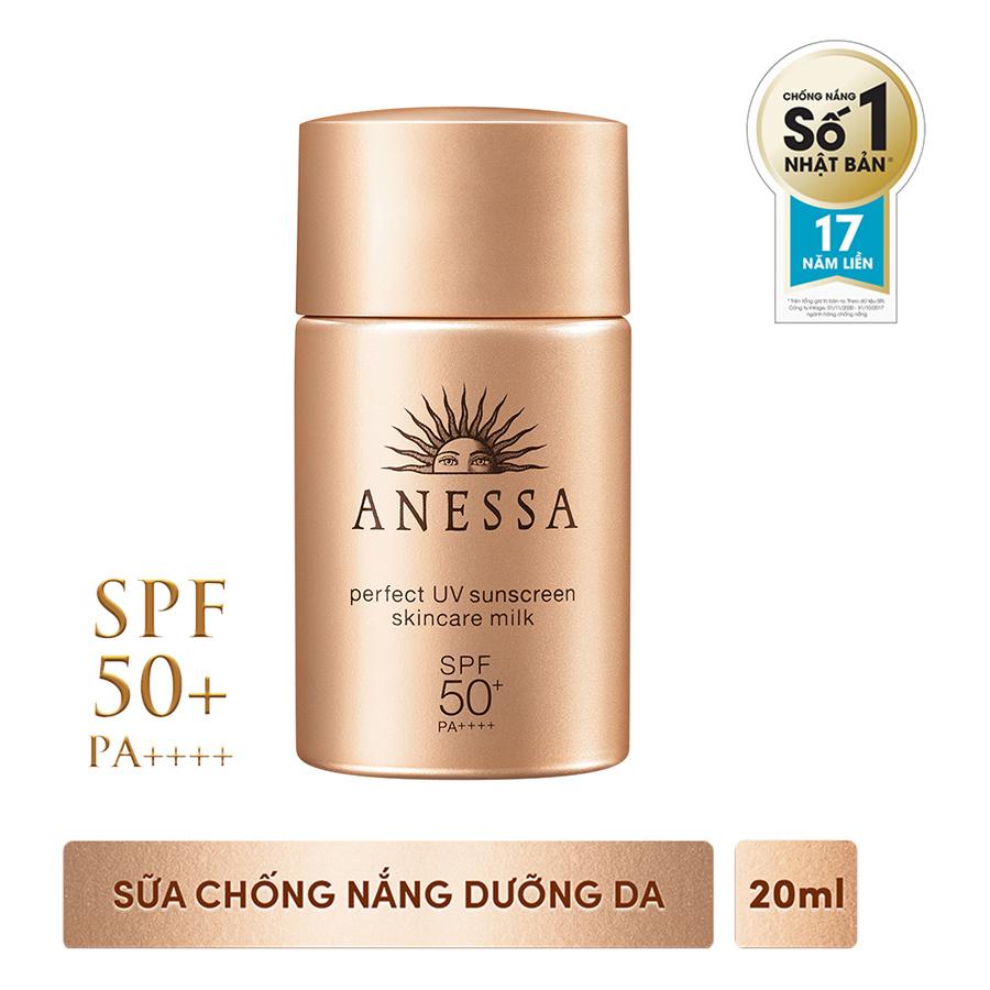 Sữa Chống Nắng Dưỡng Da Anessa Perfect UV Sunscreen Skincare Milk 14582 (20ml)