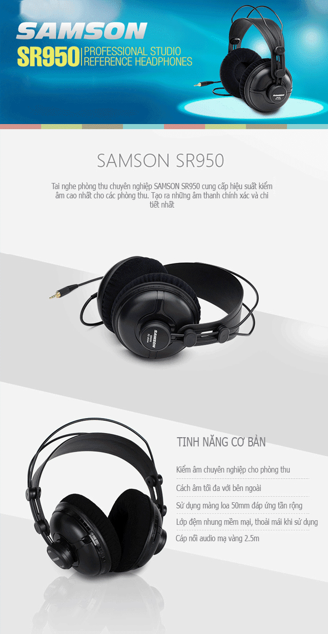 Tai Nghe Samson SR950