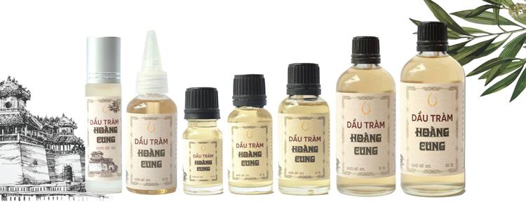 Bộ 4 chai tinh dầu tràm Huế - dầu tràm Hoàng Cung 10ml (chai lăn) 1
