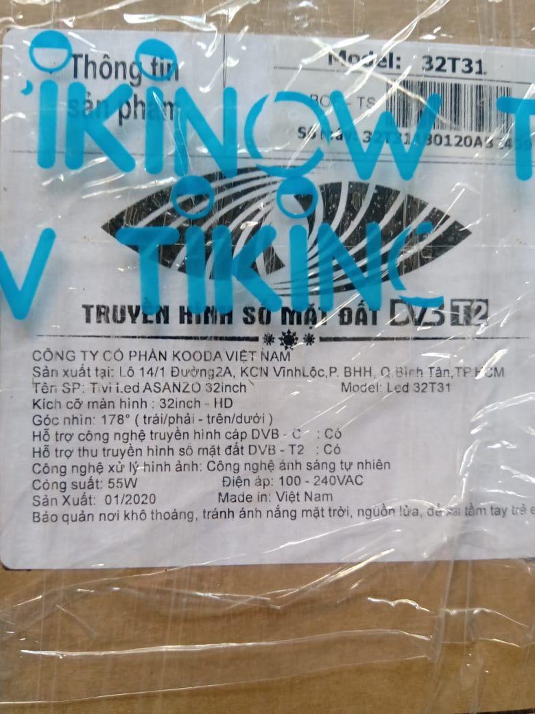 Tivi Asanzo 32 inch 32T31 - Model 2020 - Hàng chính hãng