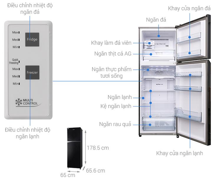 Tủ Lạnh Inverter Panasonic NR-BL389PKVN (366L)