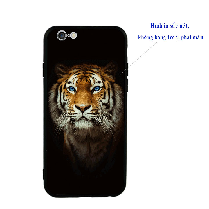 Ốp lưng viền TPU cao cấp cho Iphone 6 Plus - Tiger 04