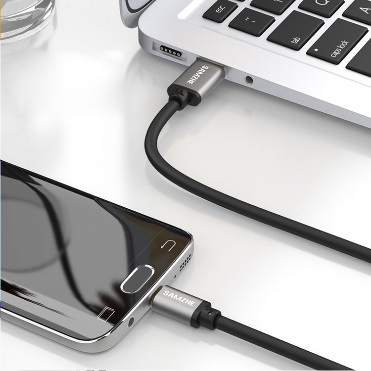 Cáp Sạc Type-C Với Đầu USB 3.0 0.5m Hỗ Trợ Millet 5/ 4C/ Music AS/ Huawei P9/ P10 Với Vỏ Bọc Nhôm - SAMZHE LTC-50A - Trắng