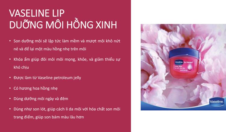 Sáp Dưỡng Môi Hồng Xinh Vaseline Lip (7g)