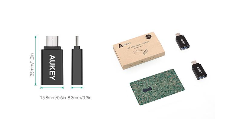 Đầu Chuyển OTG USB AuKey 3.0 ra Type C - CB-A1 - Hàng Chính Hãng