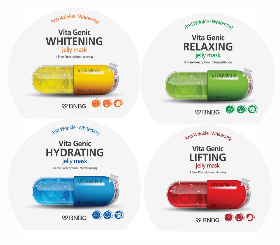 Combo 10 gói Mặt nạ giấy Banobagi Vita Genic Jelly Mask 30ml x10 (Lifting, Whitening, Relaxing, Hydrating)