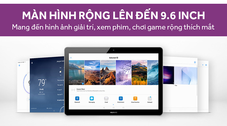 Máy Tính Bảng Huawei MediaPad T3 10 WIFI/3G/4G (2017) - Hàng Chính Hãng
