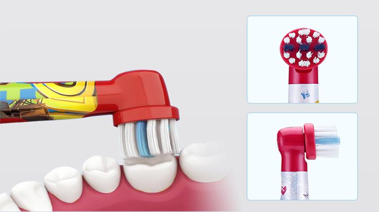 Bàn Chải Đánh Răng Bộ 3 Đầu Braun Oro B EB10-3K cho D10, DB4510K cho trẻ em - Mẫu Mickey Thông Dụng Cho Cả Nam Và Nữ