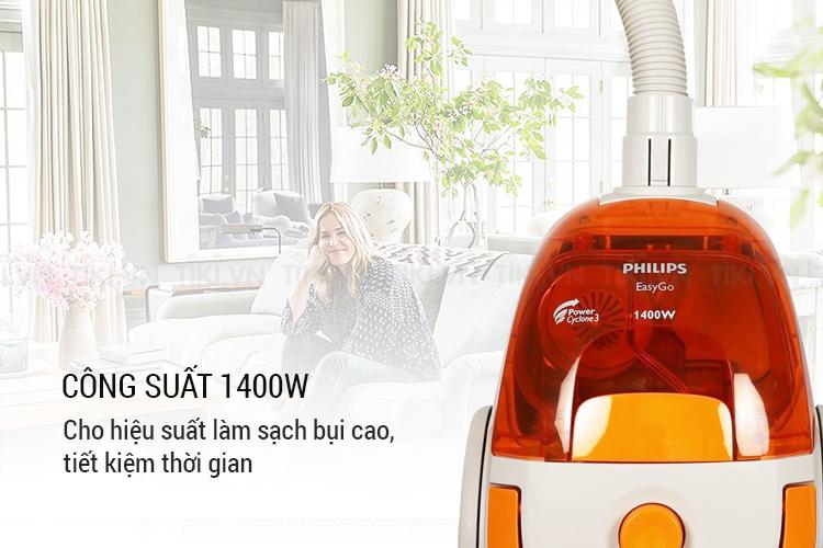 Máy Hút Bụi Philips FC8085 (1400W) - Trắng Cam