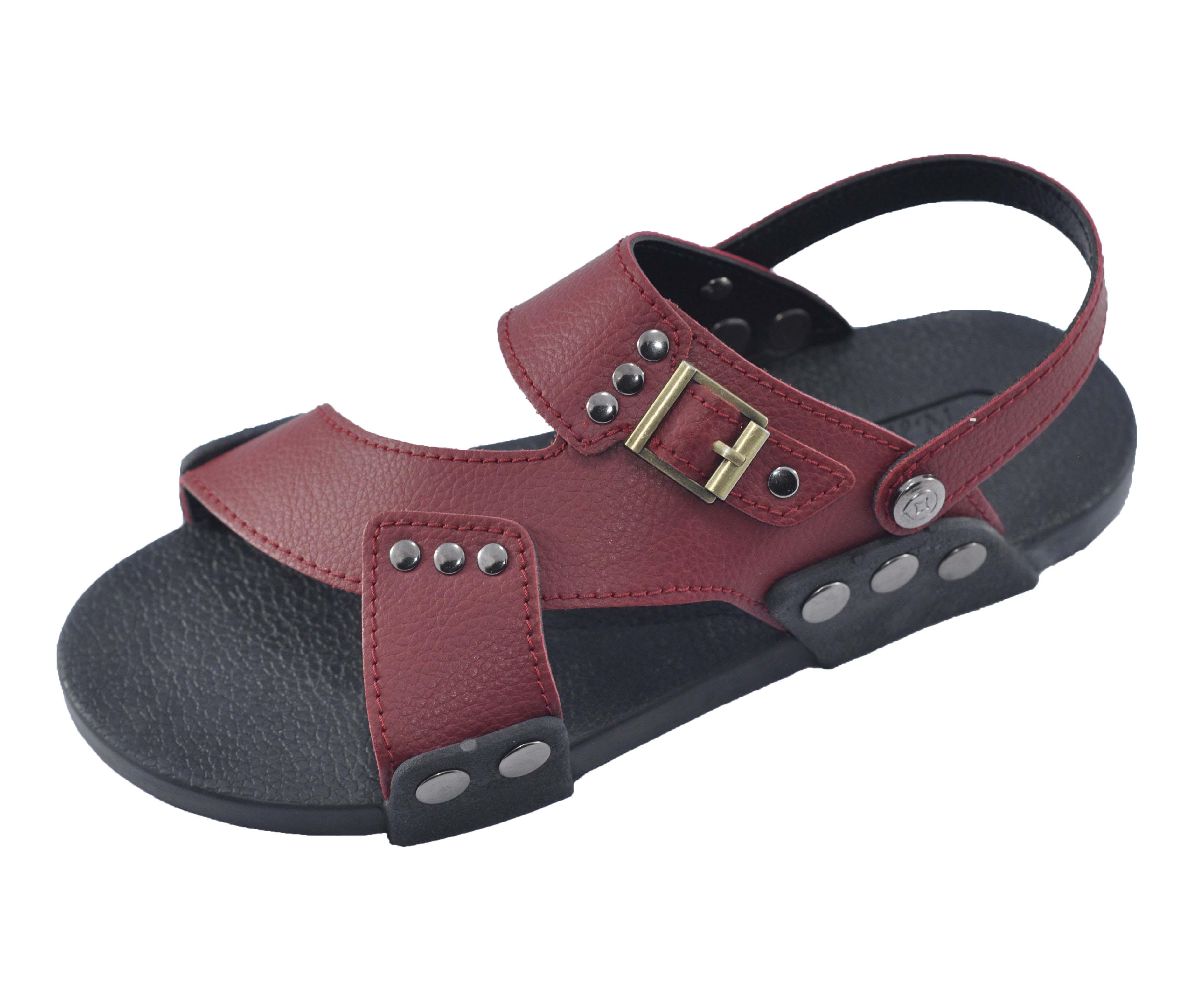 Giày quai hậu nam quai chéo thời trang - TPU-23A ( Đen)