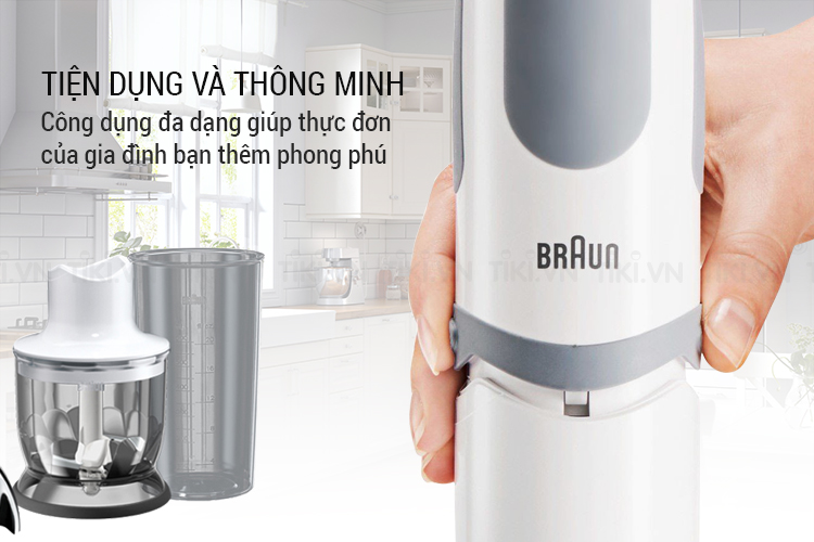Máy Xay Cầm Tay Braun MQ 5030 Sauce Special - Trắng Xám