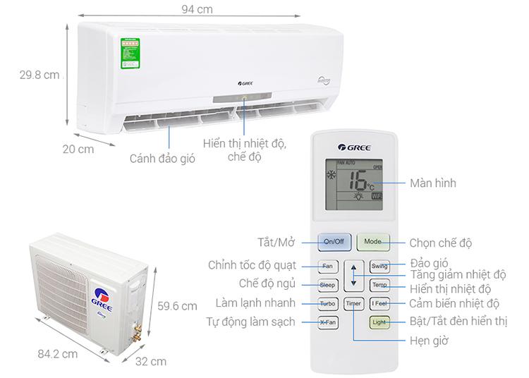Máy Lạnh Inverter Gree GWC12CA-K3DNC2I (1.5HP)