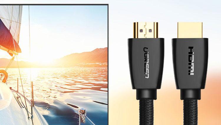 Cáp HDMI 2.0 Ugreen 1M 40408 - Hàng Chính Hãng
