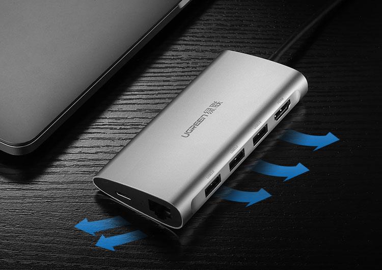 Cáp USB-C Chuyển Đổi 8 Trong 1 Ugreen (50516)