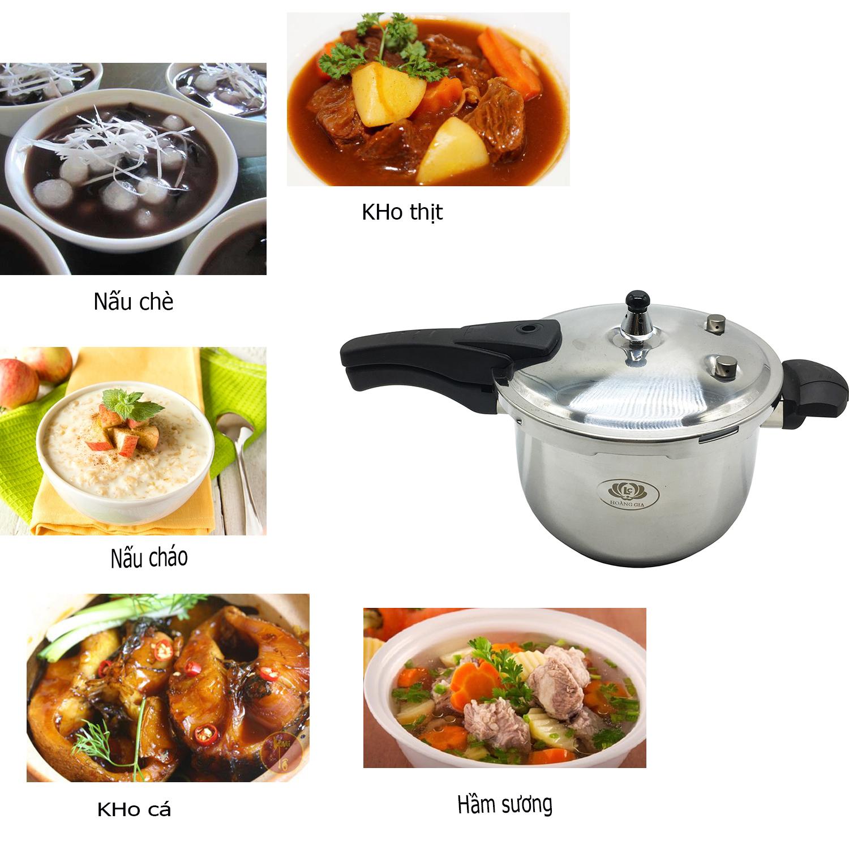 Nồi áp suất đa năng Hoàng Gia đường kính 26cm nấu trên mọi loại bếp