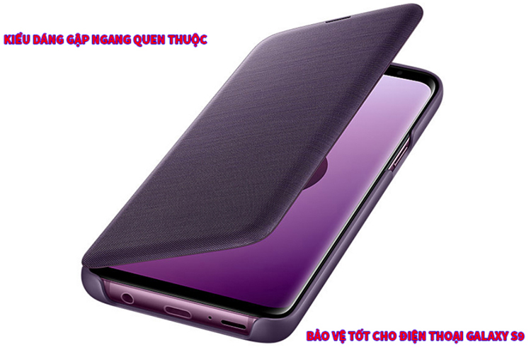 Bao Da Samsung LED View Galaxy S9 - Hàng Chính Hãng