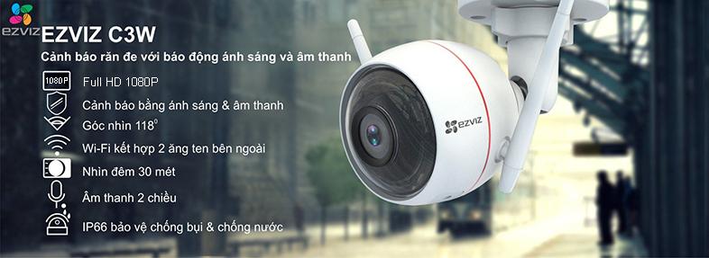 Camera Ezviz C3W 1080p canh bao thong minh