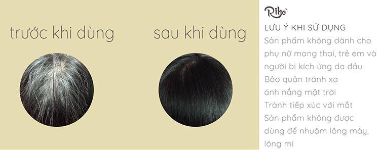 Dầu gội nhuộm tóc Riho (25ml x 4)