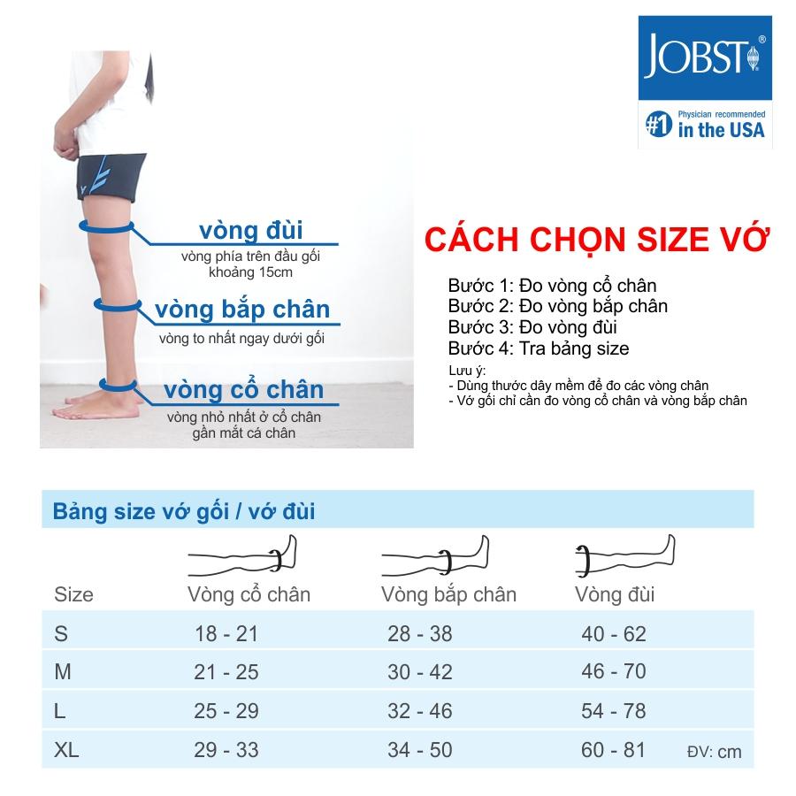 Vớ/tất y khoa gối điều trị suy giãn tĩnh mạch chân JOBST Relief chuẩn áp lực 20-30mmHg