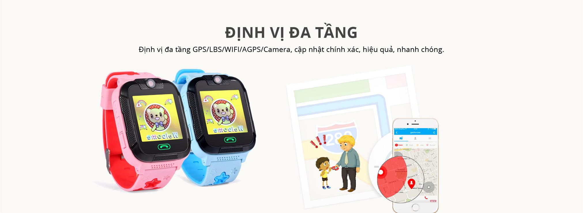 Đồng Hồ Định Vị GPS Trẻ Em Wonlex GW400E Chuẩn Chống Nước IP67 - Hàng Chính Hãng