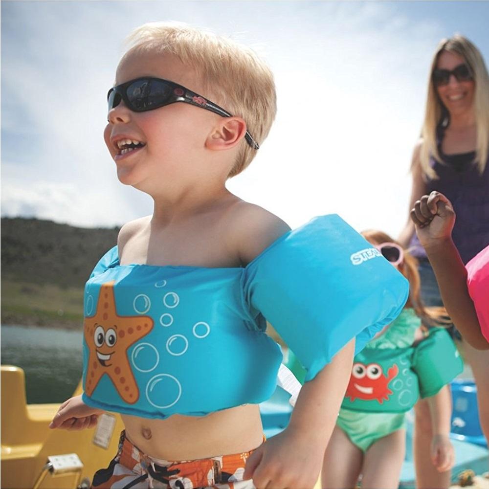 Phao bơi trẻ em SKY STAR (Bé từ 2 - 8 tuổi), phao bơi đeo tay cho bé chất liệu SIÊU nhẹ tiêu chuẩn EU cao cấp - POKI
