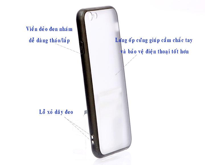 Ốp Lưng Viền TPU Cao Cấp Cho iPhone 6/6S - Rose 01
