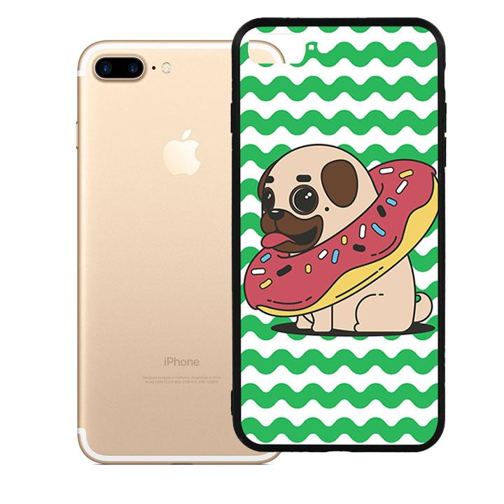 Ốp lưng viền TPU cao cấp cho Iphone 7 Plus - Cute Dog 04