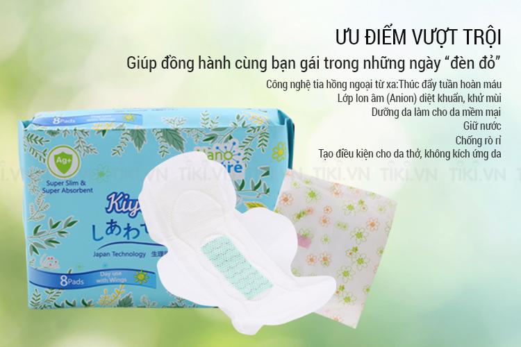Băng Vệ Sinh Ban Ngày Kiyomi (Gói 8 Miếng)