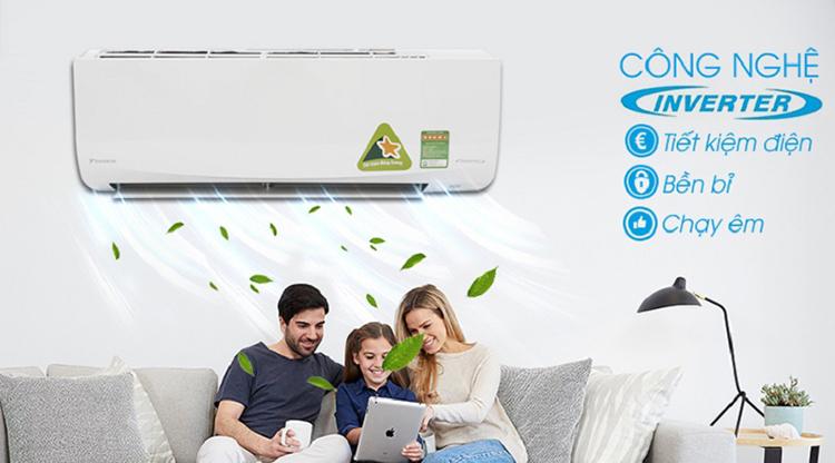 Máy Lạnh Inverter Daikin FTKQ25SAVMV/RKQ25SAVMV (1.0HP)