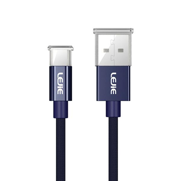 Cáp Sạc Và Truyền Dữ Liệu Micro USB Cho Android Lejie - Xanh Dương