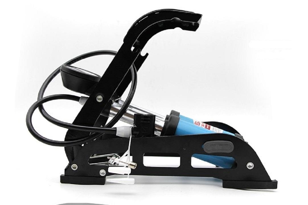 Bơm đạp chân đa năng ô tô xe máy 2 xi lanh