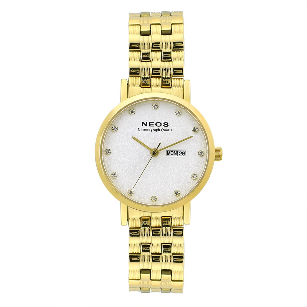 Đồng hồ Neos N-30901L nữ dây thép bạc phối vàng
