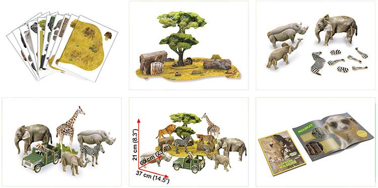 Mô Hình Giấy Cubic Fun Thế Giới Hoang Dã Châu Phi - DS0972h