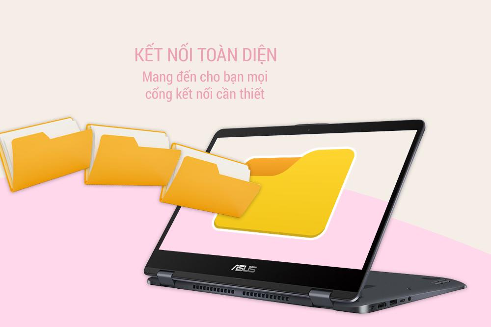 Laptop Asus VivoBook Flip 14 TP410UA-EC429T Core i5-8250U / Win 10 14 inch
