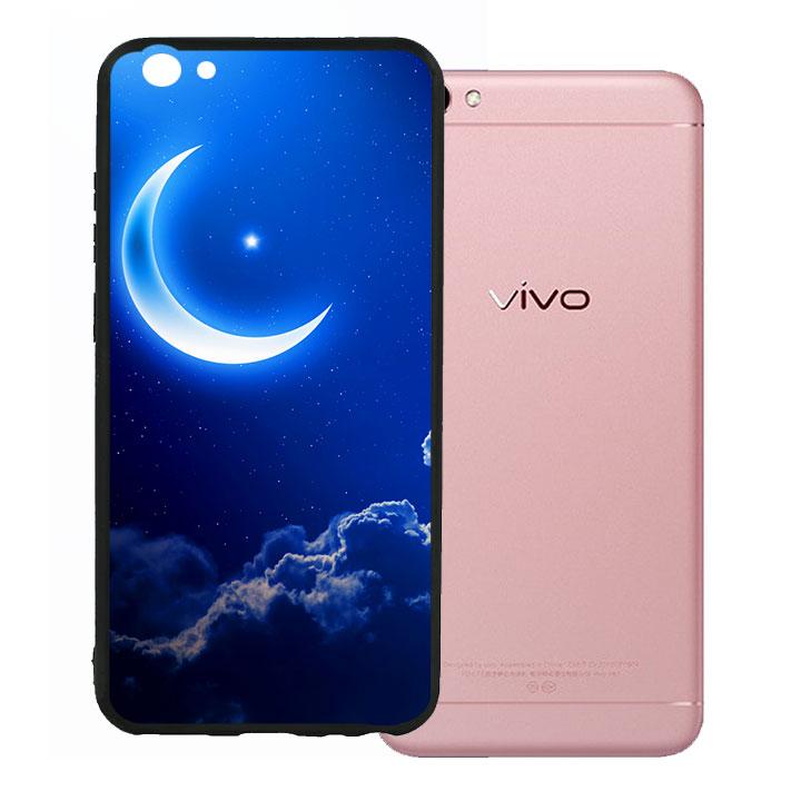 Ốp lưng viền TPU cao cấp cho Vivo V5 - Moon 01