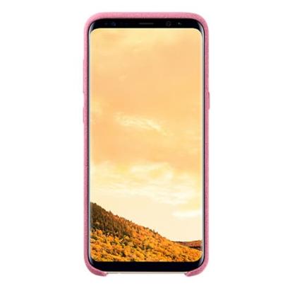 Vỏ Điện Thoại Cho Samsung S8+ Alcantara- Hồng
